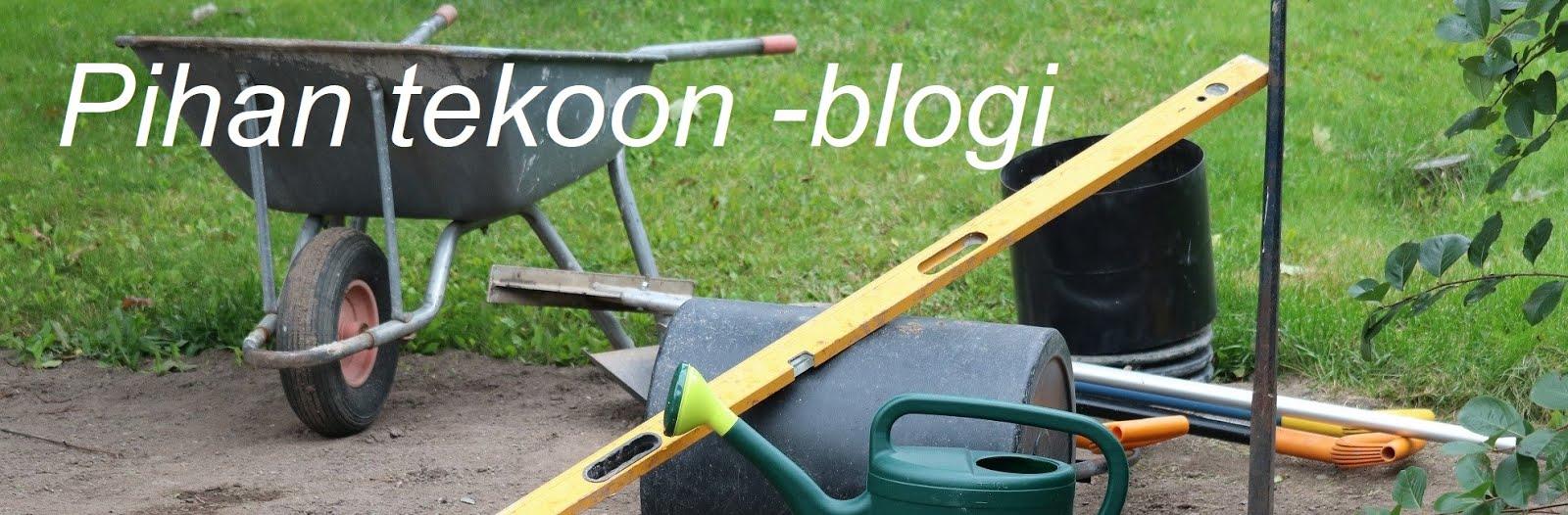 Pihan tekoon -blogini