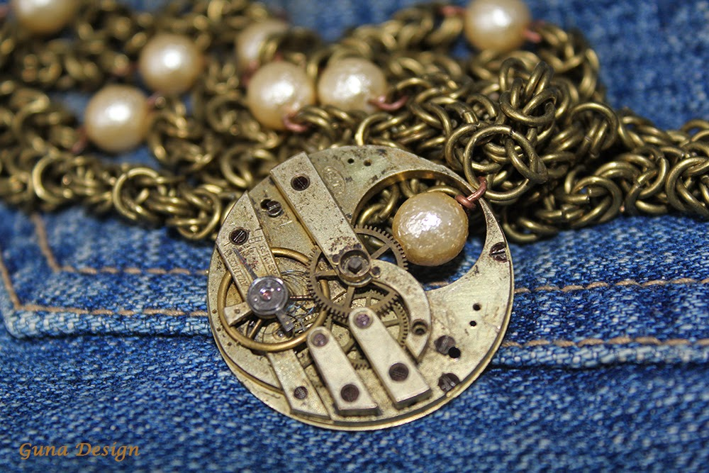 gunadesign guna andersone Avance Retard clockwork steampunk style pendant