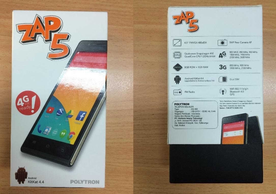 Polytron Zap 5 4G450 smartphone 4G murah
