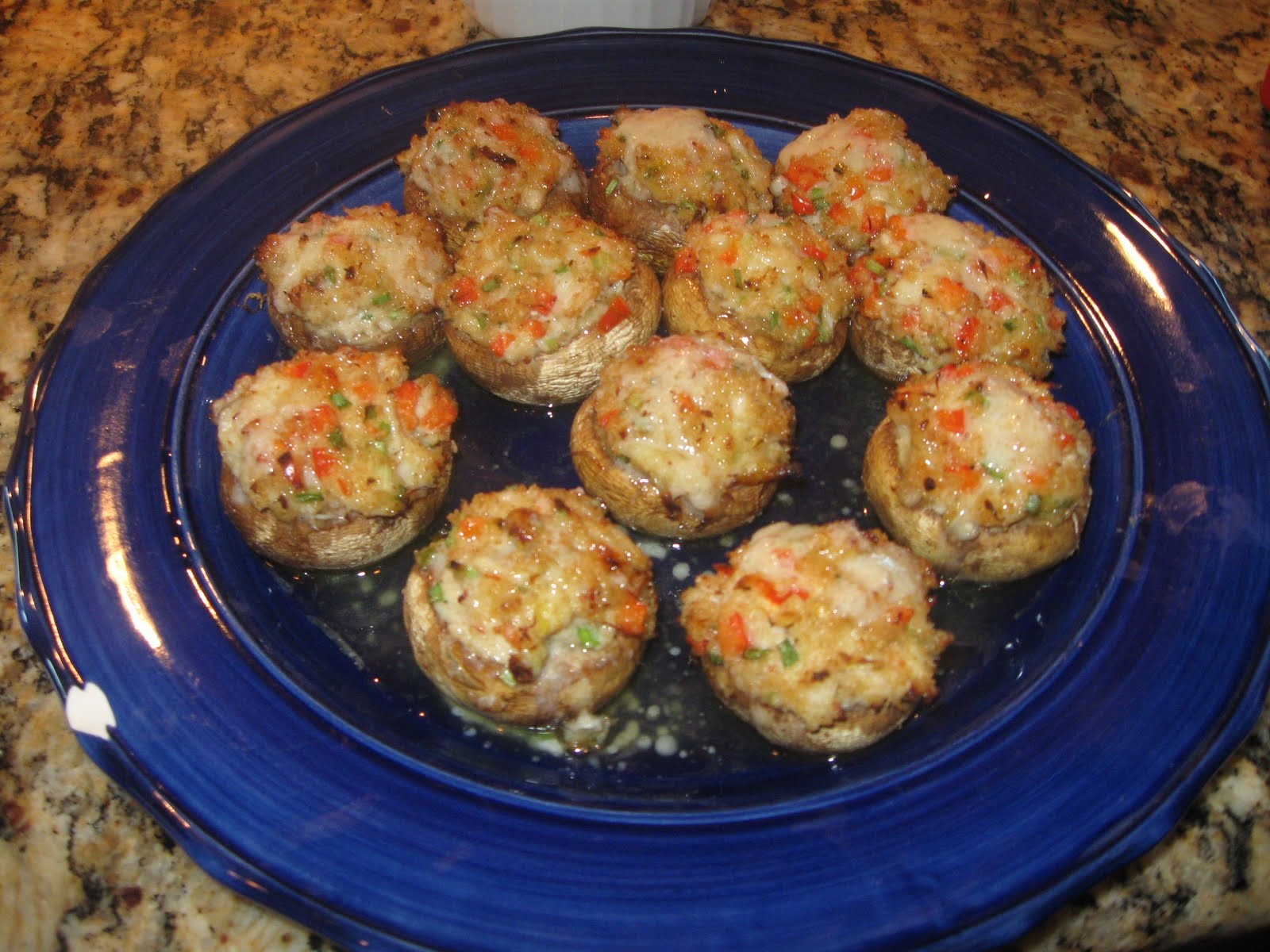 My Songs of Joy... Family Food & Wine: Crab Stuffed Mushrooms