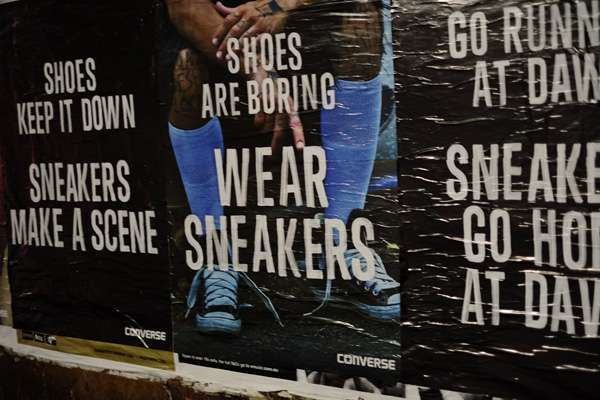 Crappy converse sneakers campaign..