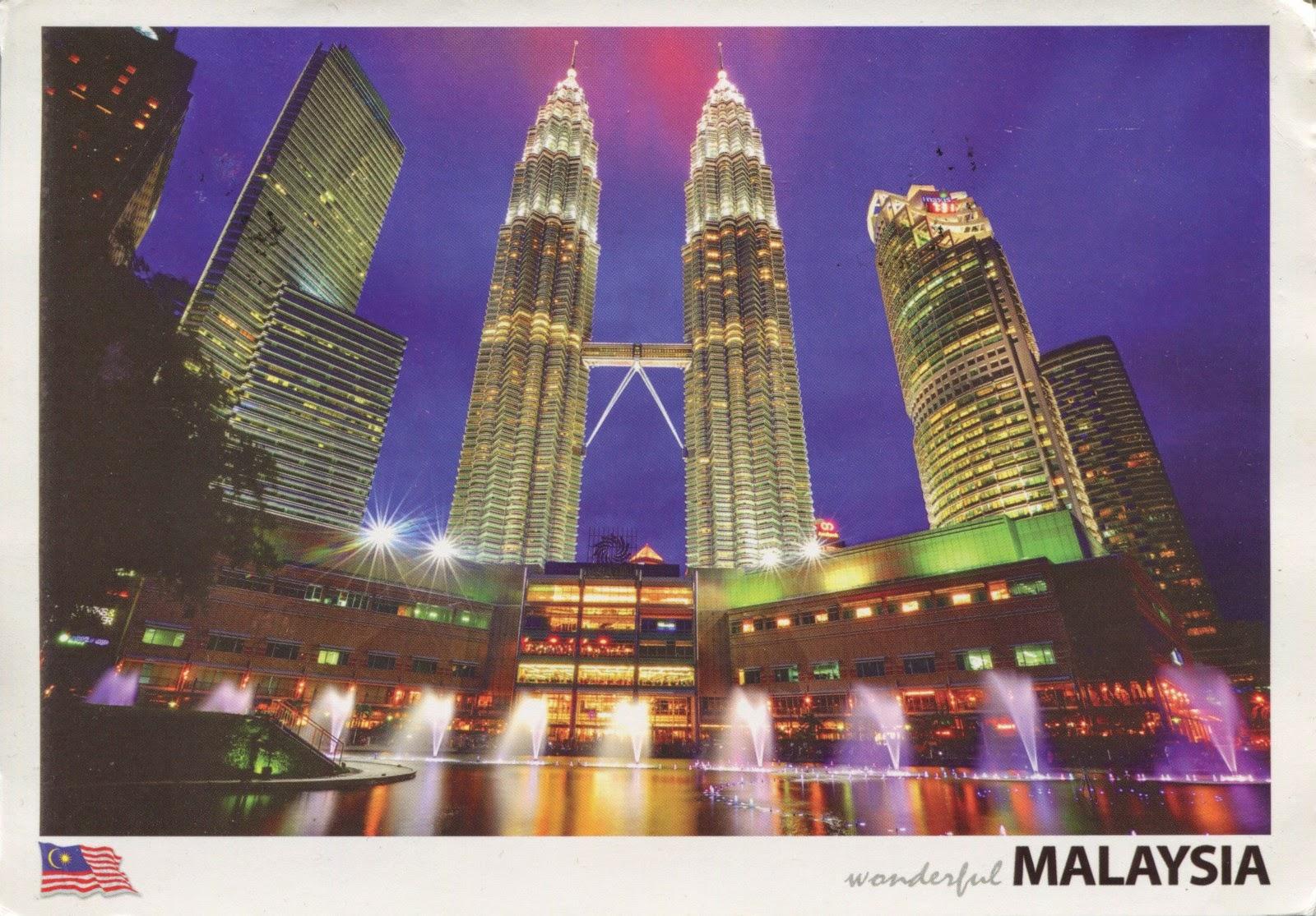 postcard, malaysia, kuala lumpur, suria KLCC