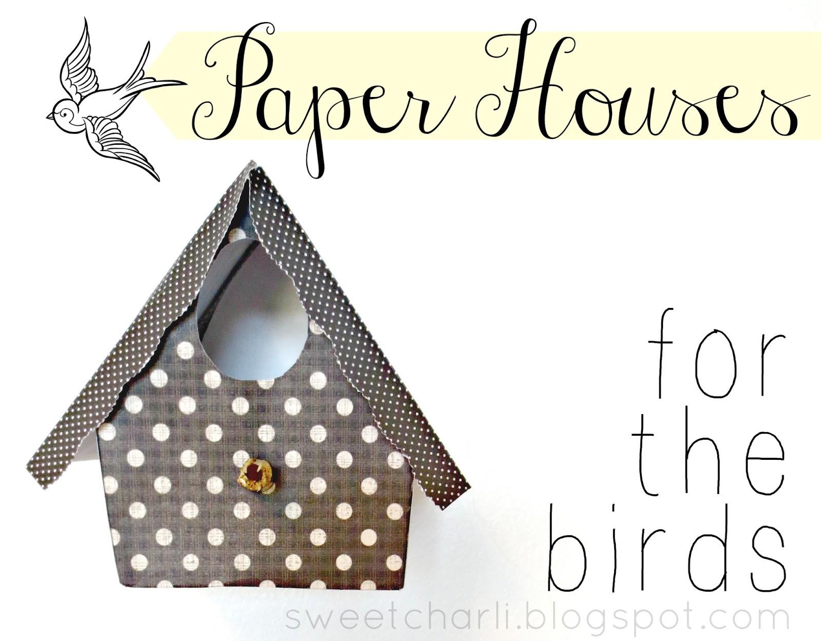 paper bird houses whimsical sweet charli