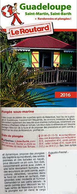 Guide du Routard plongée Guadeloupe Bouillante