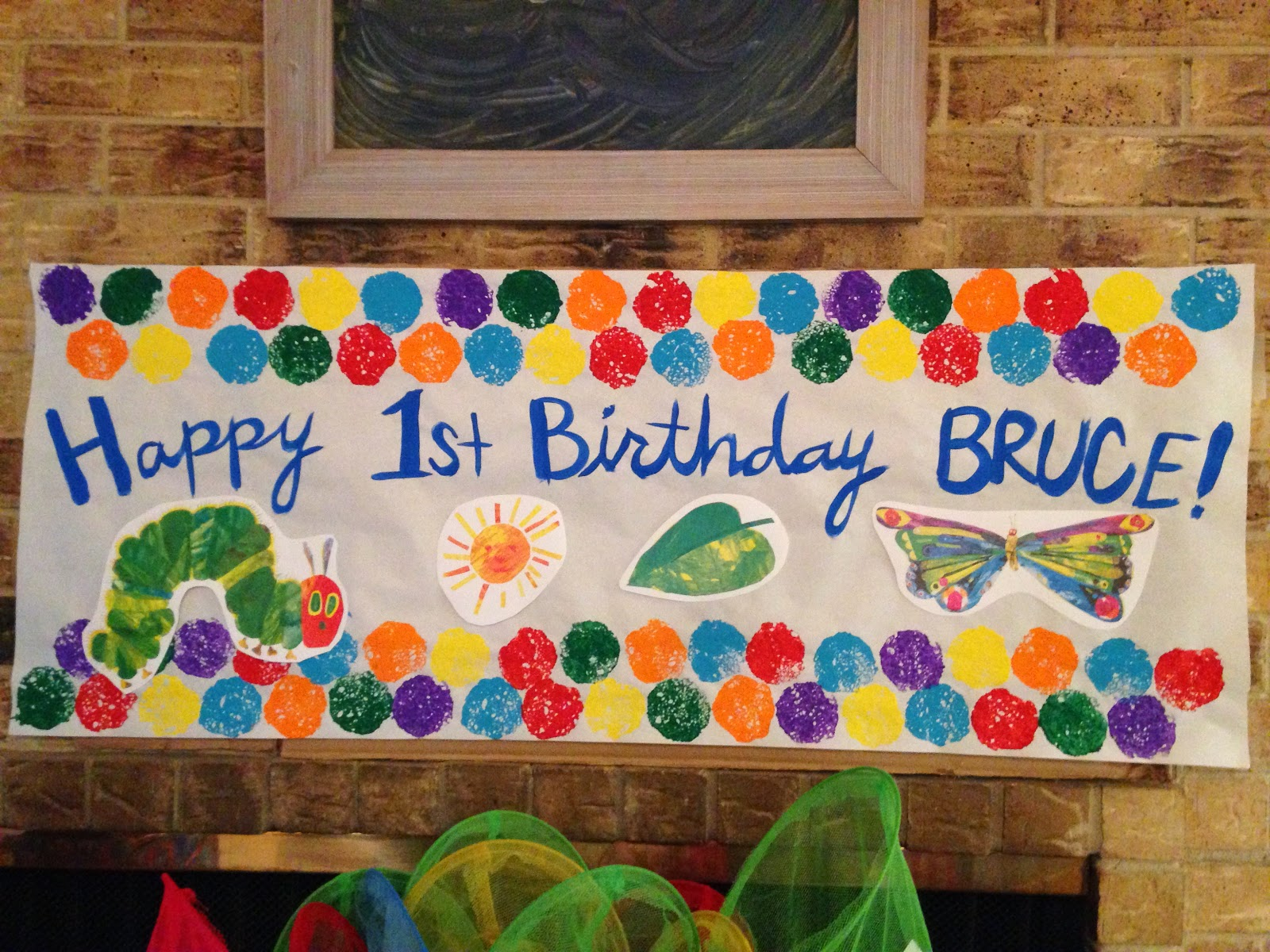 Susan Minchew: Bruce\'s Very Hungry Caterpillar First Birthday Party