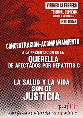 ACOMPAÑEMOS A LOS AFECTADOS DE HEPATITIS B A PONER LA QUERELLA