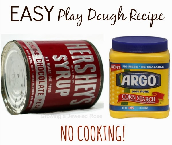 Make chocolate play dough using items from your pantry.  {Edible, no cook, EASY!}