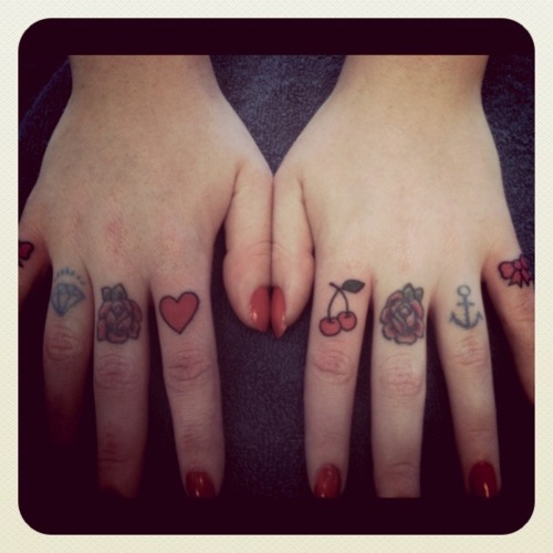 Finger Tattoos, Finger Tattoos & Finger Tattoos