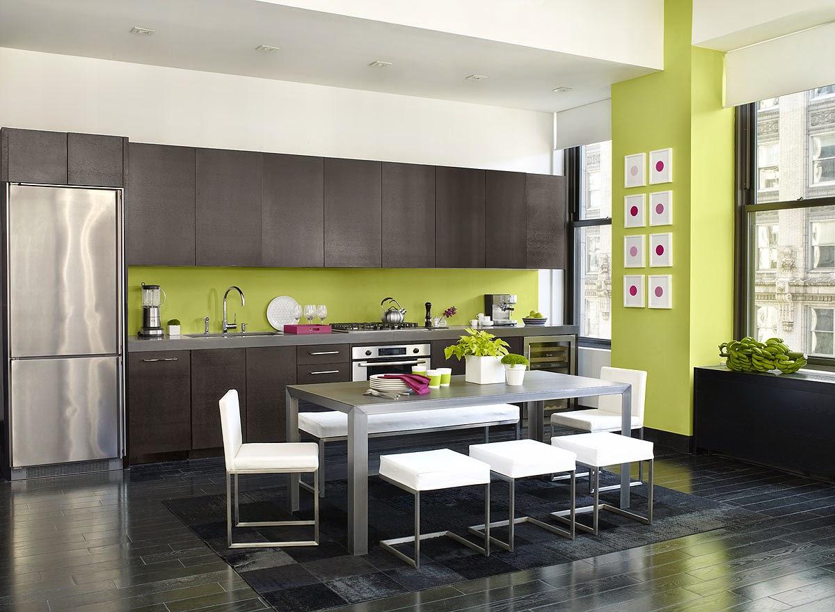 Id e deco couleur cuisine for Cuisine couleur