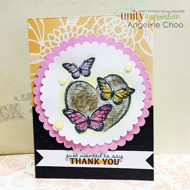 ScrappyScrappy: Thank you butterflies #scrappyscrappy #card #unitystamp #gelatos