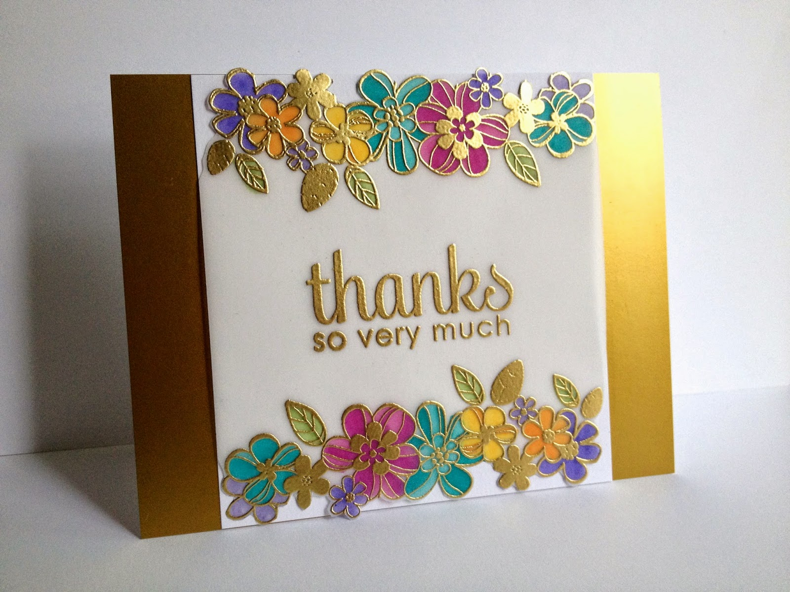 Im In Haven Another Gold Embossed On Vellum Card