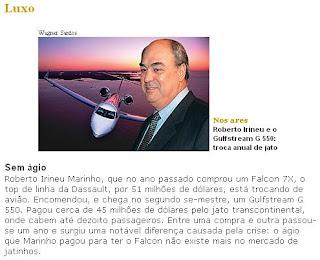 dono da globo Irineu marinho e aecio sonegando impostos no Brasil