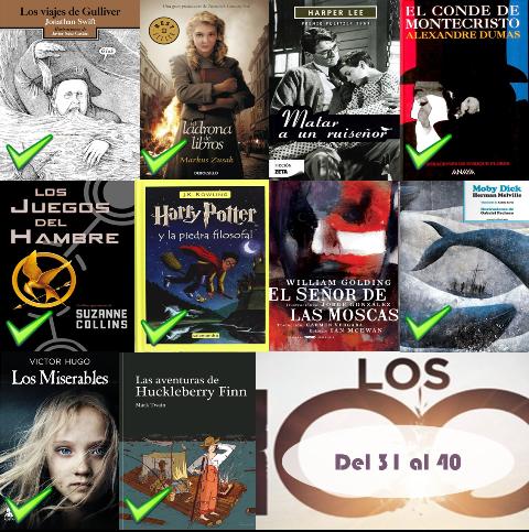 31 al 40 de los 100 mejores libros de todos los tiempos