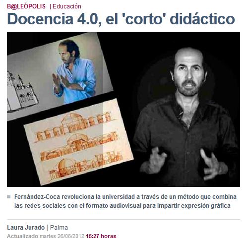 El profesor Fernández-Coca revoluciona la universidad a través de un método que combina las redes sociales con el formato audiovisual para impartir expresión gráfica