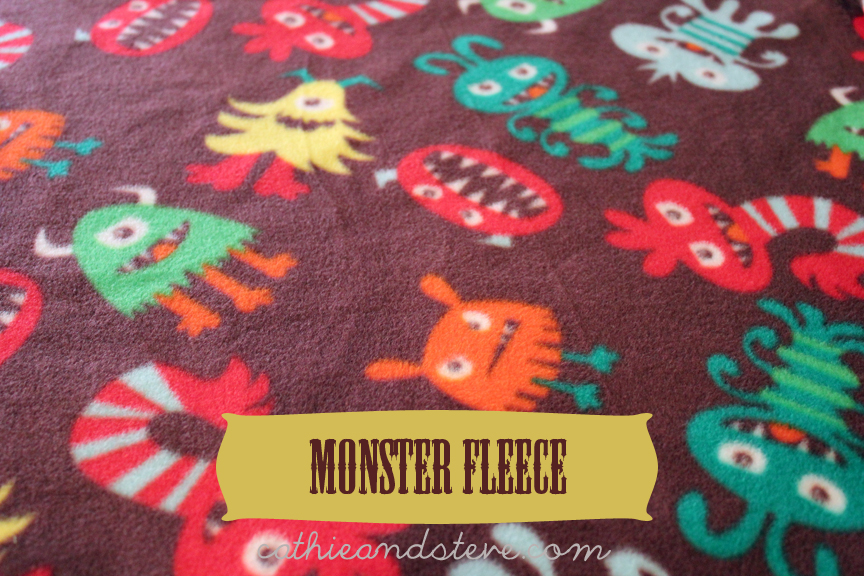 Cathie filian how to sew a baby sleep sac mccalls for Baby monster fabric