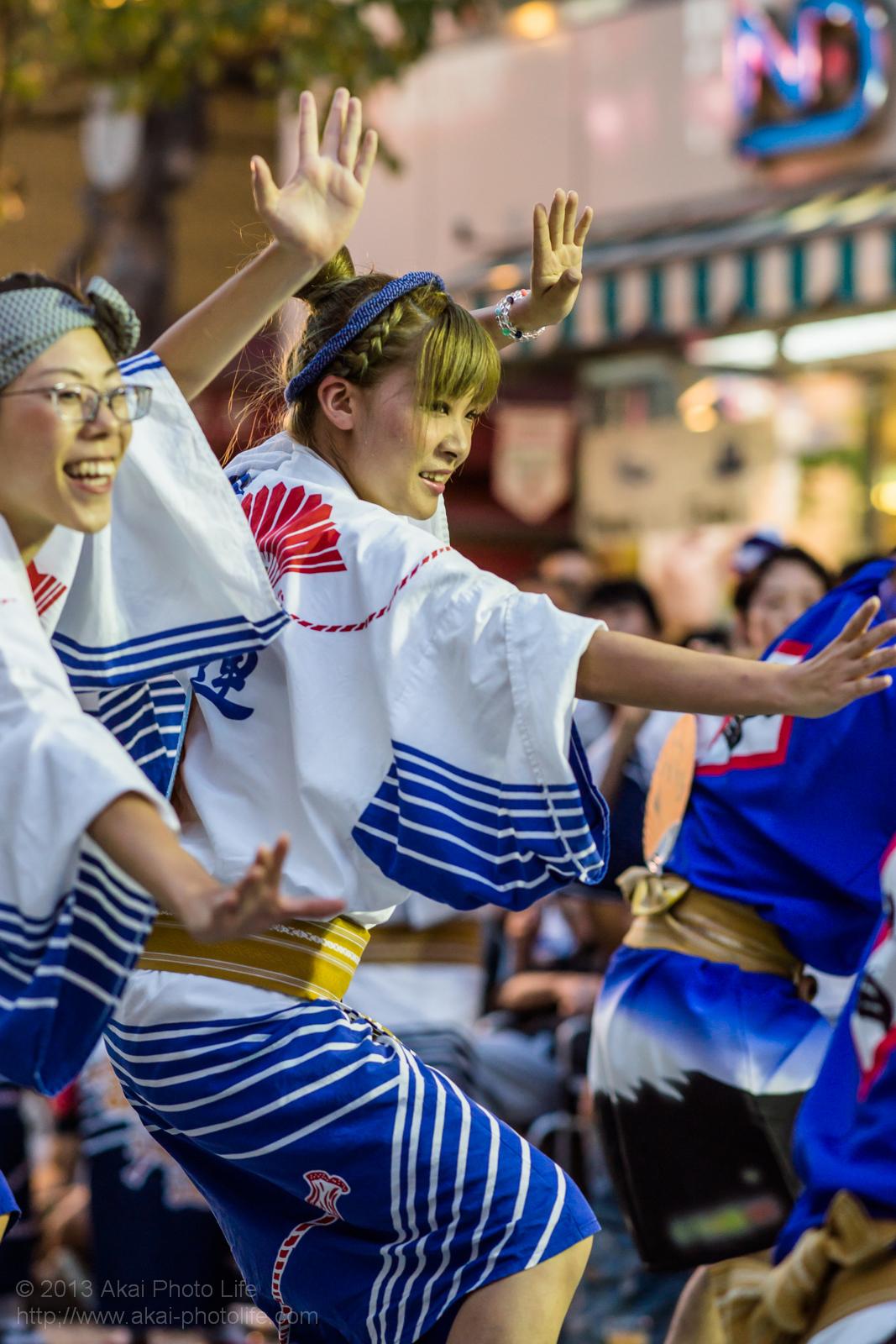 三鷹阿波踊り、富道連の女性の男踊り