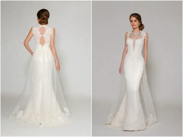 Mẫu váy cưới khoe lưng trần