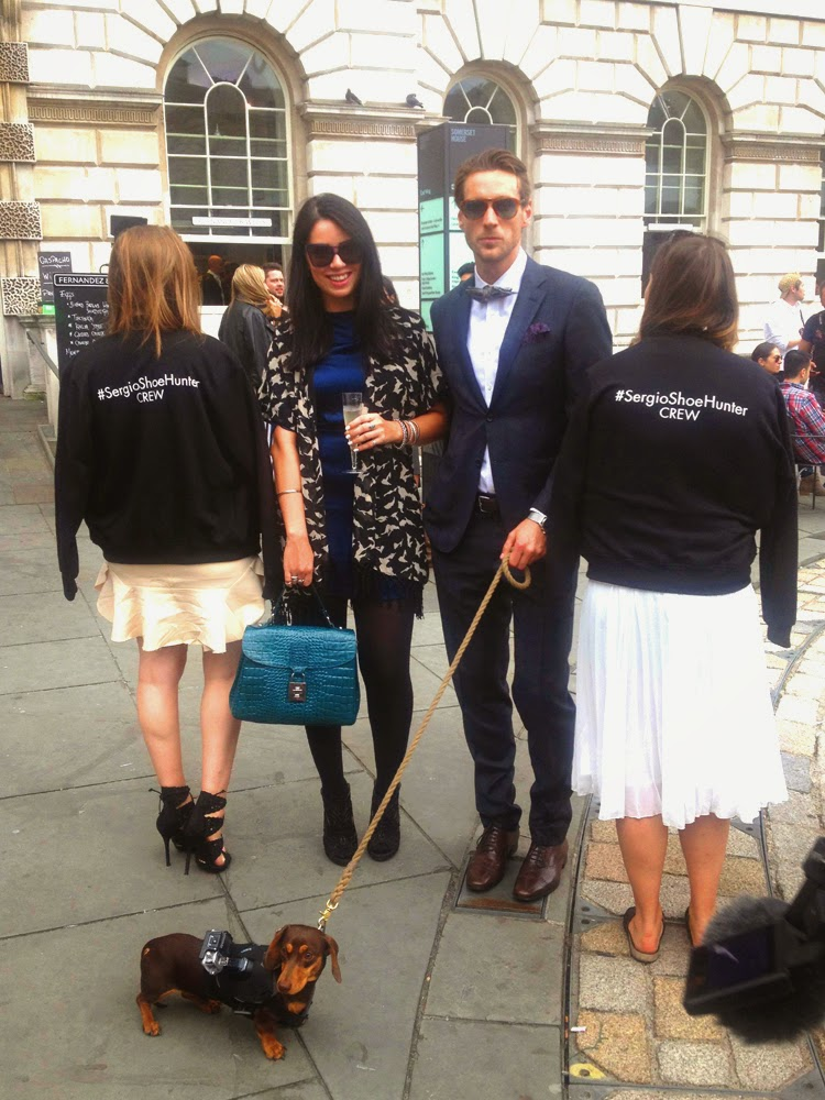The Outnet's Sergio the Shoe Hunter and Blogger Emma Louise Layla at London Fashion Week