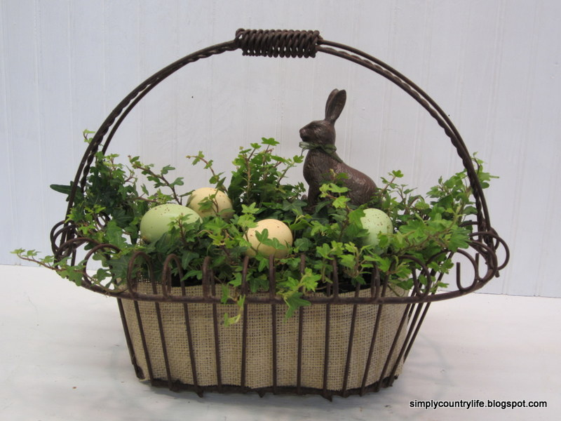 Simply country life easter planter centerpiece easter planter centerpiece negle Image collections