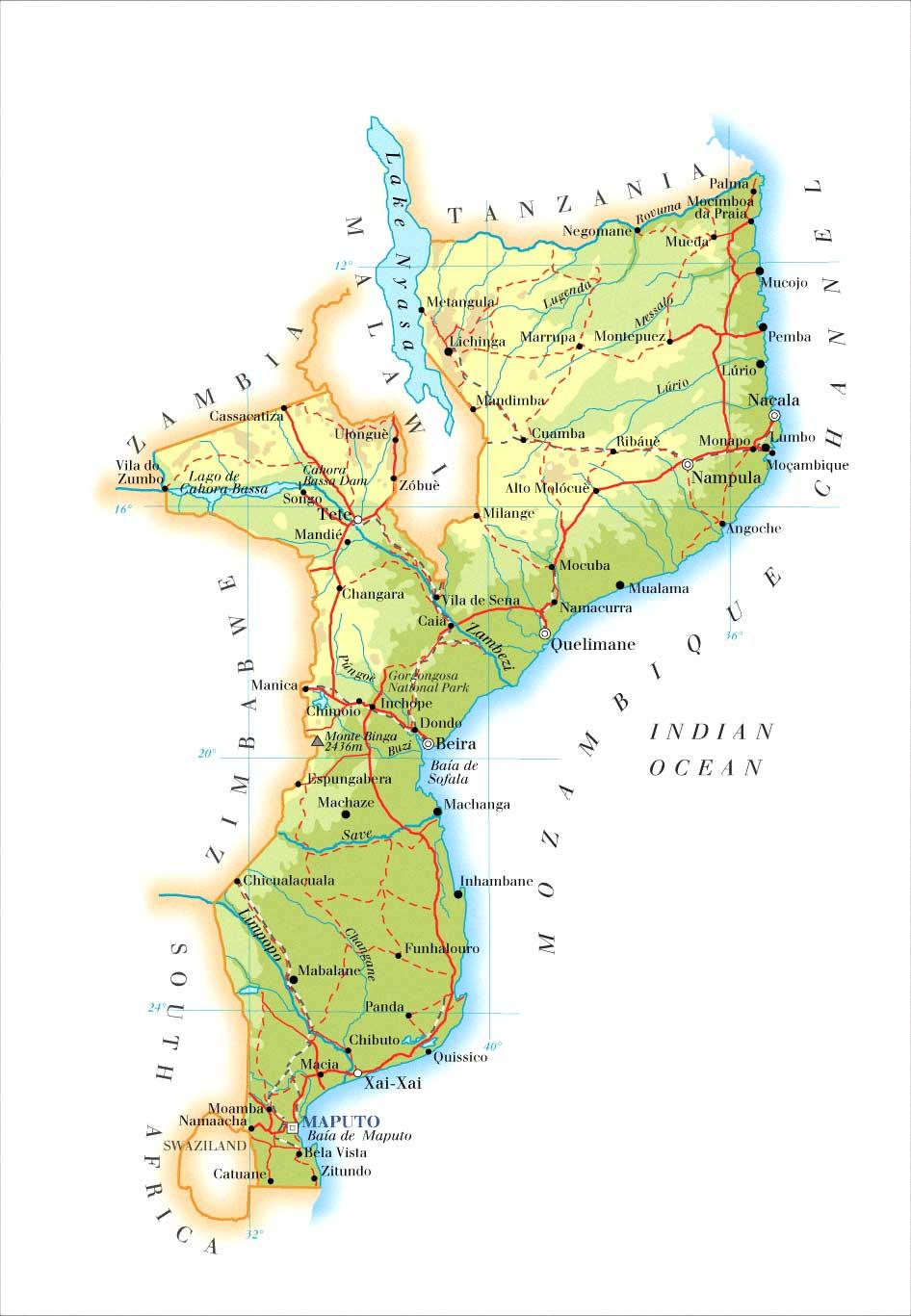 MAPAS DE MOÇAMBIQUE - Geografia Total™