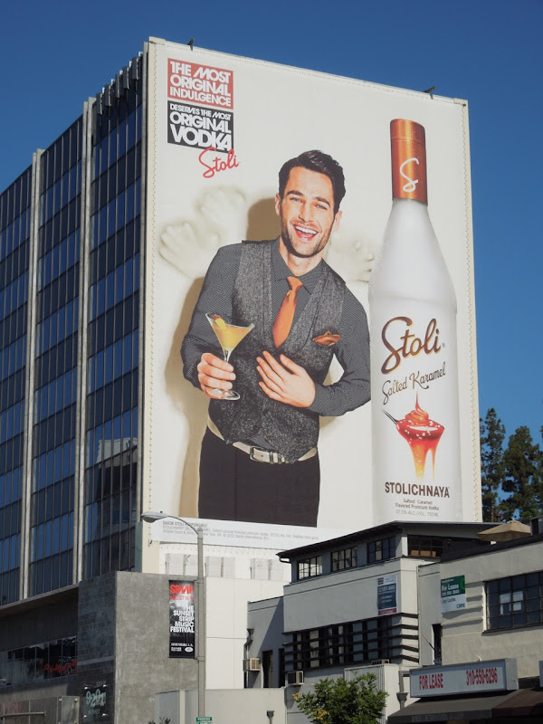 Stoli Salted Karamel Vodka billboard