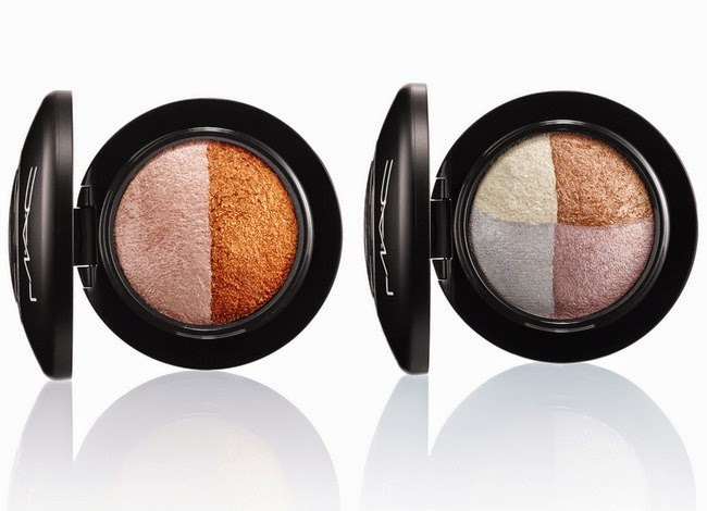 MAC Mineralize eyeshadows Brilliant Brunch and Spiced Metal