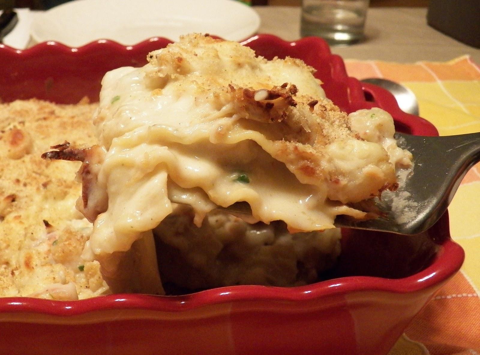 seafood lasagna with crab, shrimp, and scallop. This Seafood Lasagna ...