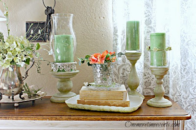 simple vinnette and gorgeous tray makeover