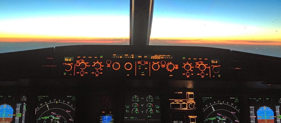 Über die Kabine ins Cockpit!