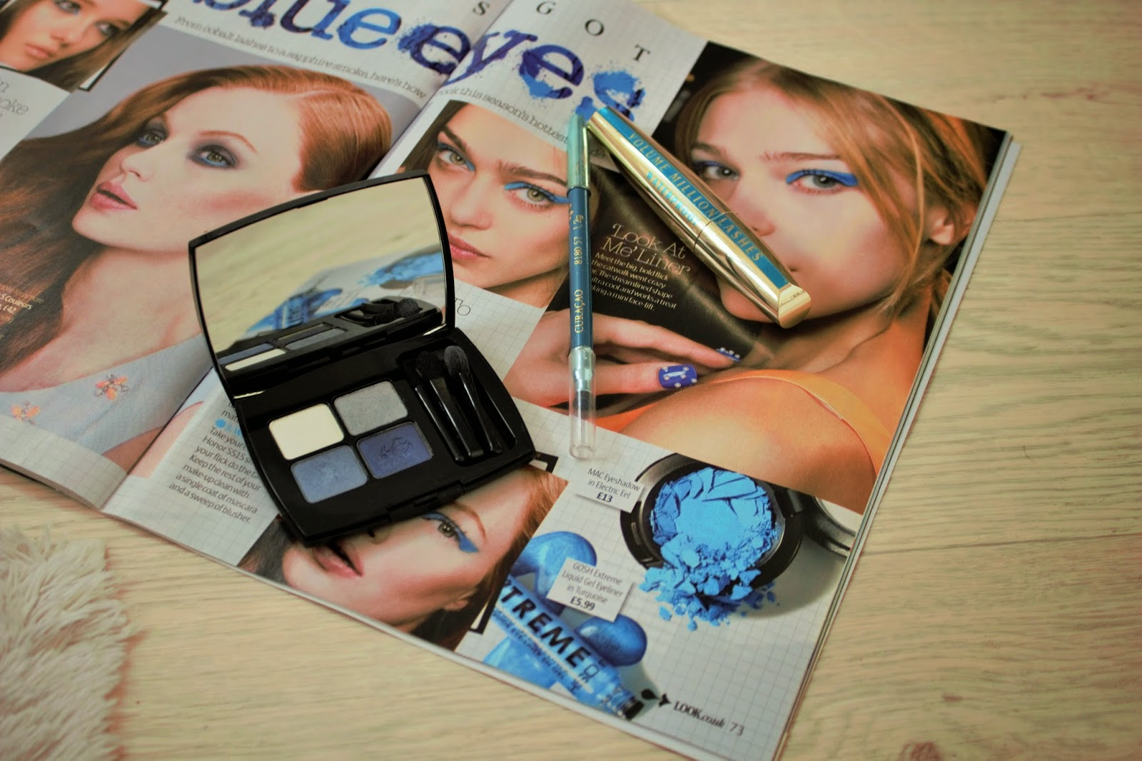 Blue Eyeshadow Look with Lancome Palette