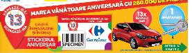 Tombola aniversară Carrefour 19 iunie - 16 iulie