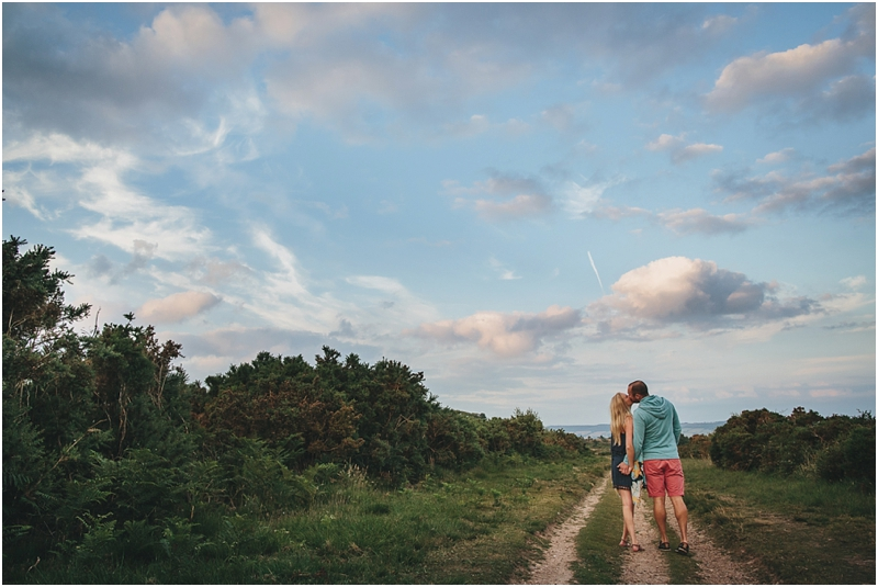 A couple kissing on Woodbury Common