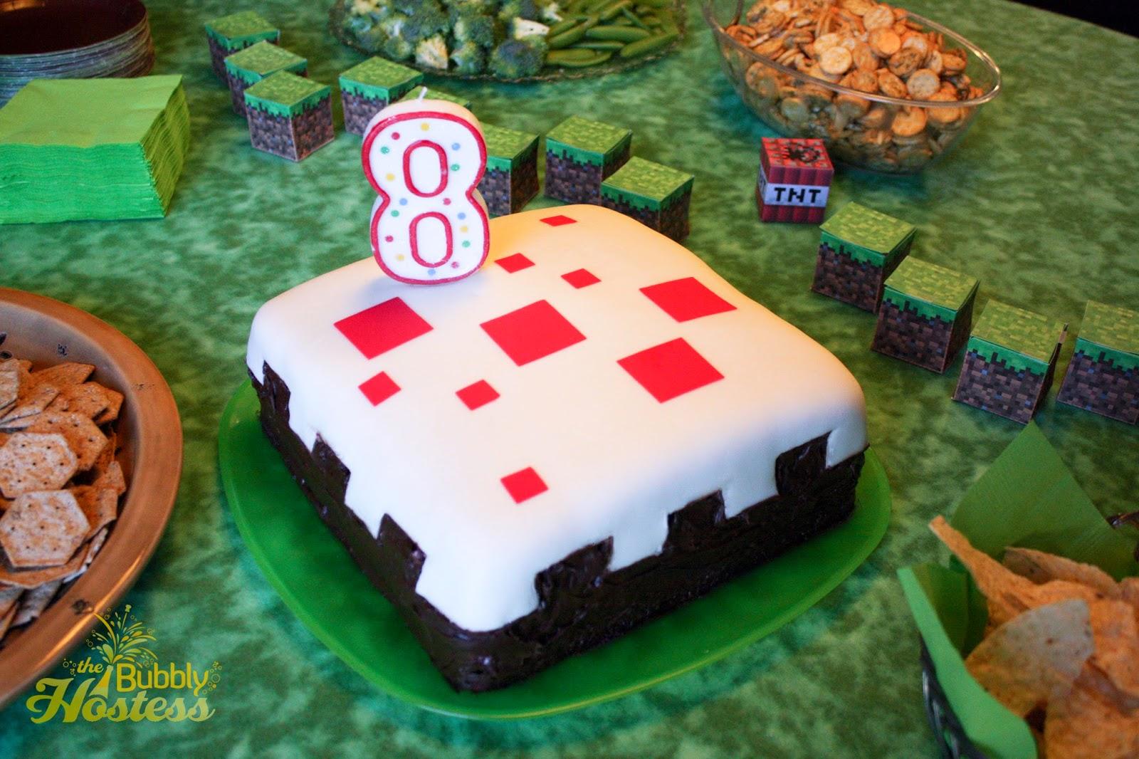 Minecraft Birthday Party The Bubbly Hostess