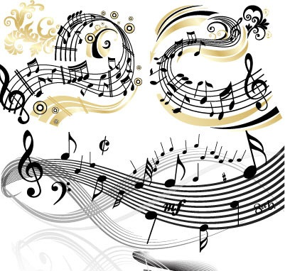 Music Vector Black And White