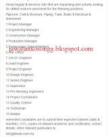 Denai Supply and Services Jawatan Kosong