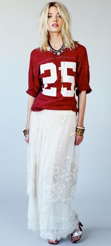 Free People colección de faldas largas en Edición Limitada