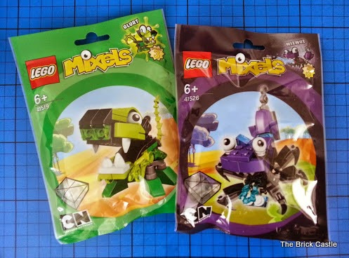 LEGO Mixels Series 3 review - Glurt 41519 and Wizwuz 41526