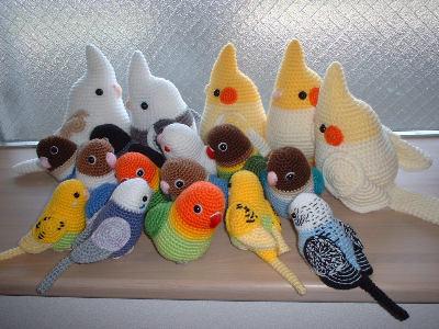 Попугайчики крючком
