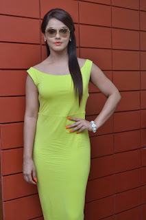 Neetu Chandra amazing Beauty in Sleeveless Neon Green Tank Top at Thilagar Press Meet