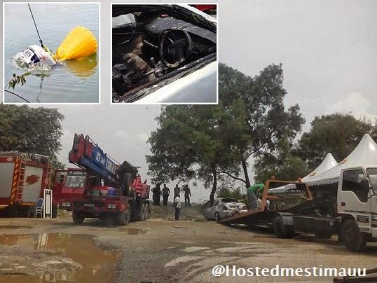 5 Gambar Mayat polis pecut kereta terjun lombong di temui