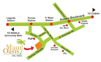 Maui Oasis Sta. Mesa Manila Location Map, Condominium for sale in Manila, Filinvest