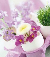Великденска украса с черупки от яйца