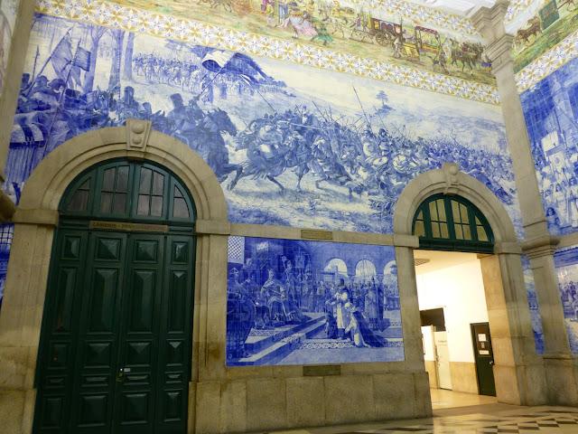 Azulejos de la estación de Sao Bento, Porto