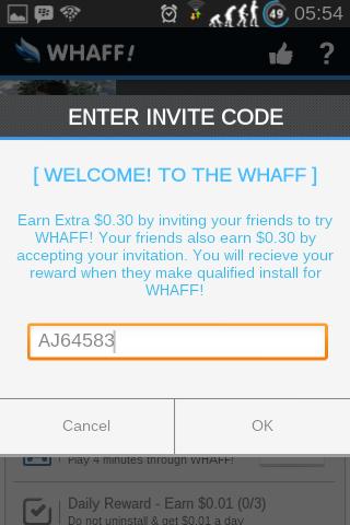 Cara menggunakan Whaff! untuk mendapatkan uang 2