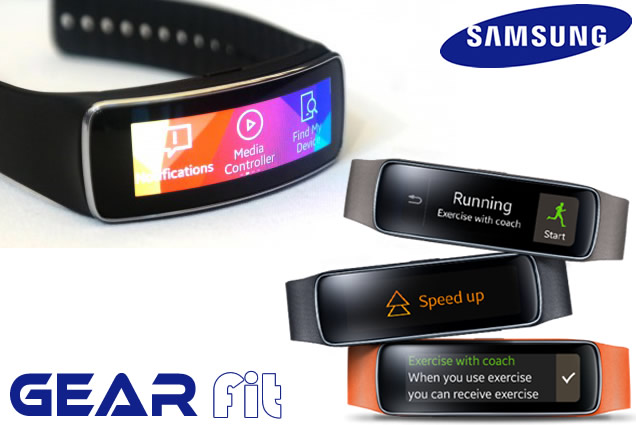 Samsung Gear Fit price and Wrist Fitness Bands features