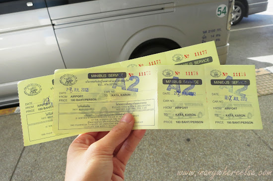 Phuket mini-bus ticket