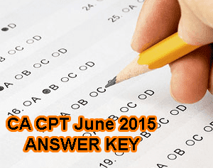 CA CPT Answer Key 14 June 2015, CA CPT Exam Key with Question Paper 2015, CA CPT June 2015 Answer Key Set A, Set B, Set C, Set D. ICAI CA CPT Answer Key for Morning Session, Afternoon Session. ICAI CPT 2015 Solved Paper Solutions, ICAI CA CPT Answers Set wise 2015