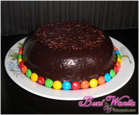 Kek Coklat Moist Sedap. Kek Coklat Bakar Kukus Lembap.