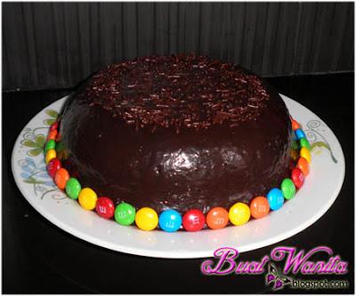 Cara Deco Kek Cake Mudah dan Simple. Cara Deco Kek Coklat. Cara Deco Chocolate Cake