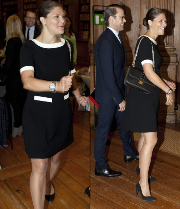 Pregnant Crown Princess Victoria Attend A Meeting At The Royal Palace